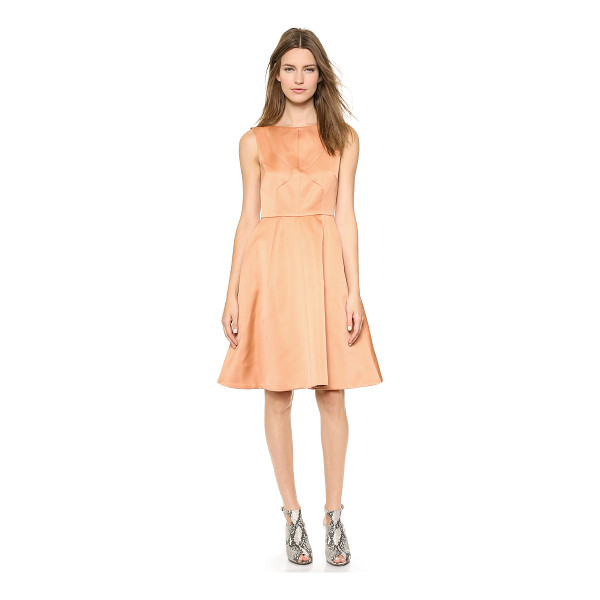 ROCHAS Sleeveless dress - Paneled construction lends a tailored fit to a structured...