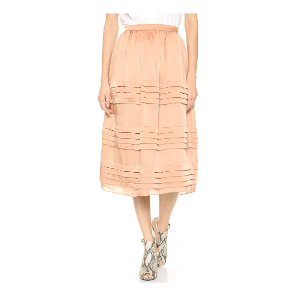 ROCHAS Tiered silk skirt - Delicate tiers ripple through this lovely Rochas midi...