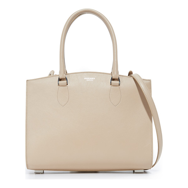 ROCHAS top handle bag - A structured Rochas bag in smooth leather. Unlined,...