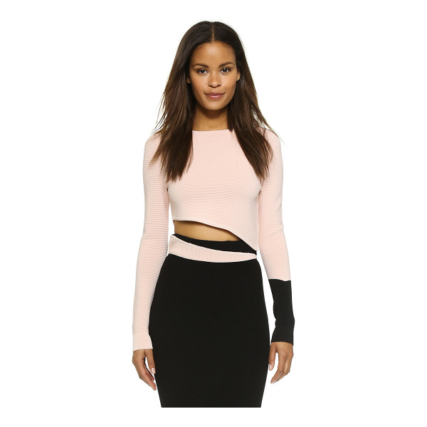 RONNY KOBO Helouise crop top - This slant cropped Ronny Kobo pullover is punctuated with...