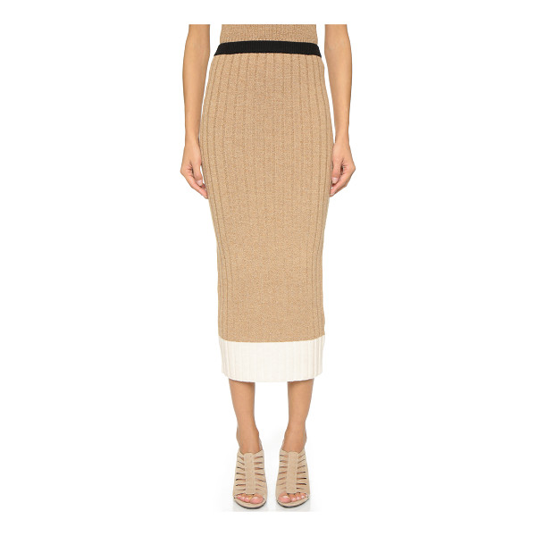 RONNY KOBO Ronny ribbed knit skirt - A Ronny Kobo skirt styled in a ribbed knit and detailed...