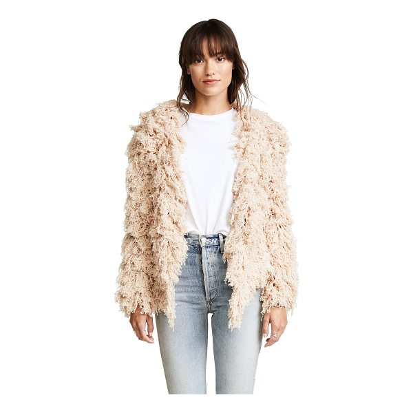 RYAN ROCHE cashmere furry cardigan - This open-knit Ryan Roche cardigan is covered in plush...