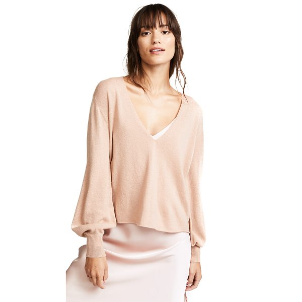 RYAN ROCHE v neck cashmere sweater - This delicate, fine-knit Ryan Roche cashmere sweater has a...