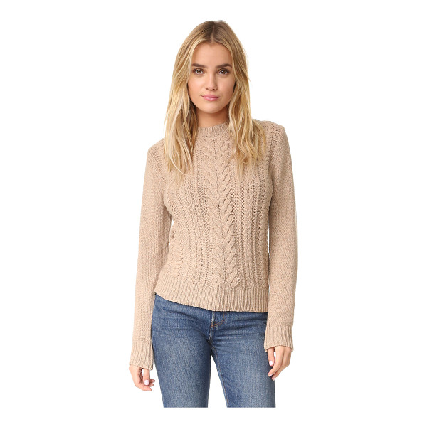 RYDER milo cable knit - A cable-knit front panel lends soft texture to this casual...