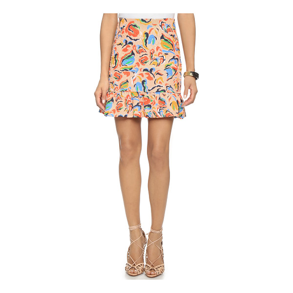 SALONI Lou skirt - This Saloni miniskirt gains a unique look from blistered...