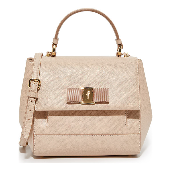 SALVATORE FERRAGAMO Carrie satchel - A structured Salvatore Ferragamo satchel in luxe saffiano