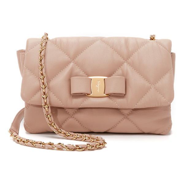 SALVATORE FERRAGAMO Gelly shoulder bag - Soft quilted leather brings a luxurious feel to this petite
