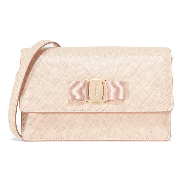 SALVATORE FERRAGAMO miss vara bow cross body bag - This petite Salvatore Ferragamo bag can be worn as a fanny