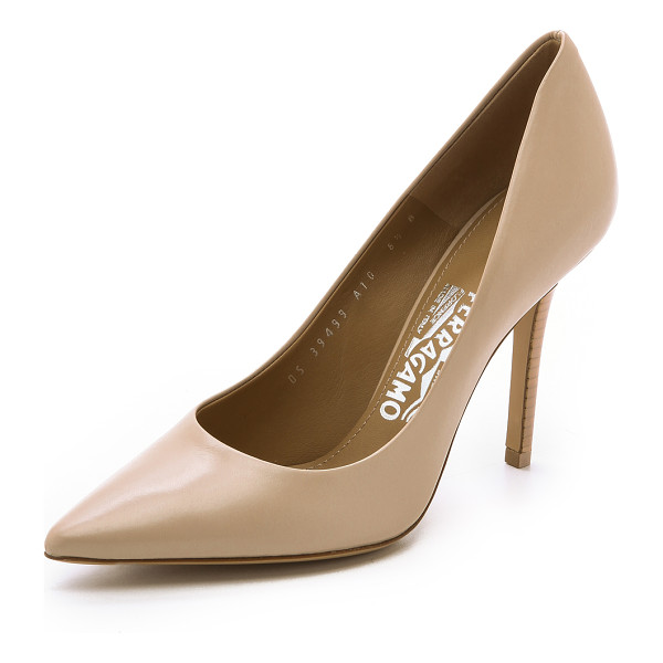 SALVATORE FERRAGAMO Susi pumps - Refined leather pumps by Salvatore Ferragamo in a classic...