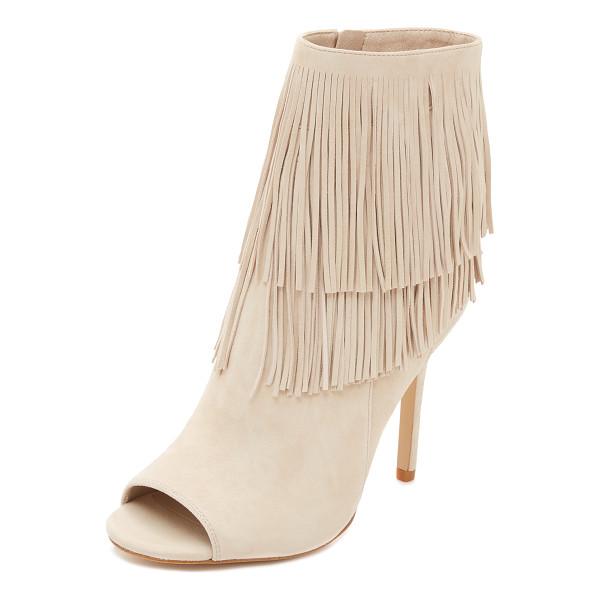 SAM EDELMAN Arizona fringe booties - Fringe accents the cuff of these sophisticated, suede Sam