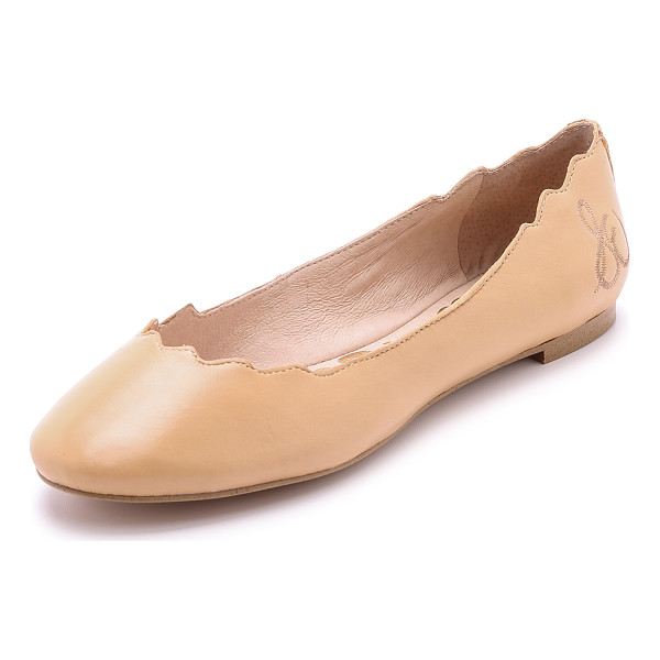 SAM EDELMAN Augusta scalloped ballet flats - A scalloped top line and ballerina silhouette give these