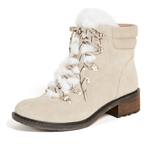 SAM EDELMAN darrah 2 hiker boots - Soft faux fur adds a feminine touch to the rugged...