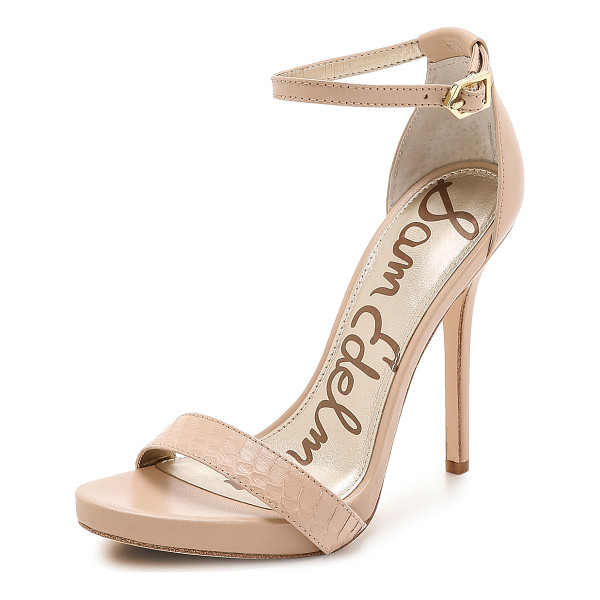 SAM EDELMAN Eleanor ankle strap sandals - Sam Edelman pumps in a mix of smooth leather and edgy