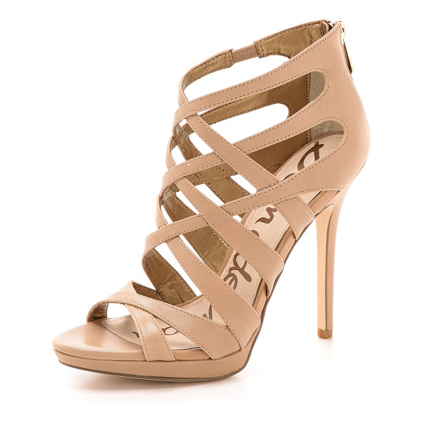 SAM EDELMAN Erin crisscross sandals - Crisscross straps create a smooth lattice pattern on