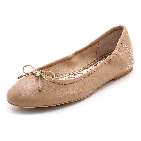 SAM EDELMAN felicia ballet flats - A bow and logo charm add a sweet touch to classic leather...
