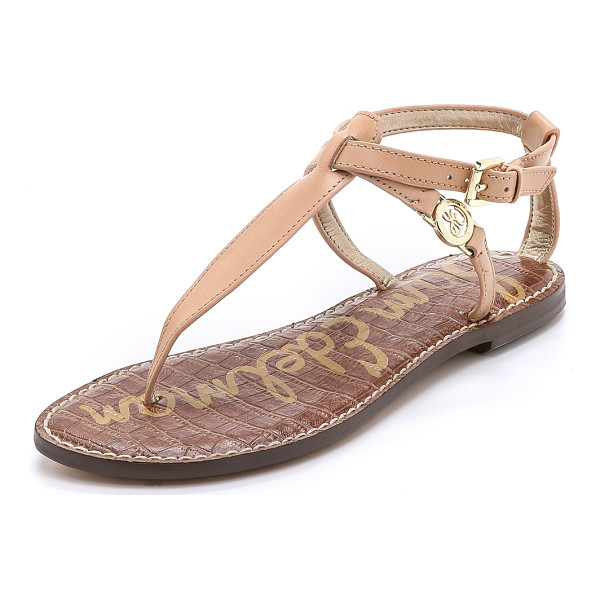 SAM EDELMAN Galia thong sandals - These Sam Edelman thong sandals have a textured footbed and