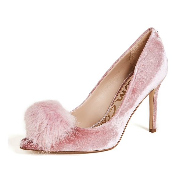 SAM EDELMAN haroldson pumps - Chic Sam Edelman velvet pumps, accented with faux-fur...