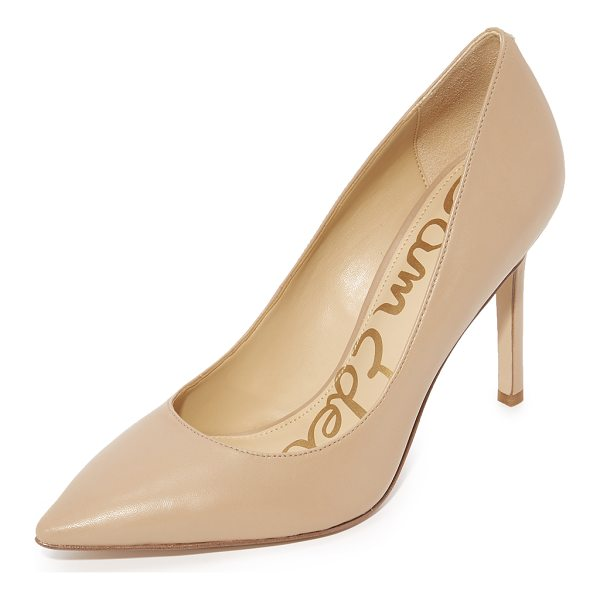 SAM EDELMAN hazel pumps - Classic leather Sam Edelman pumps in a refined, pointed-toe...