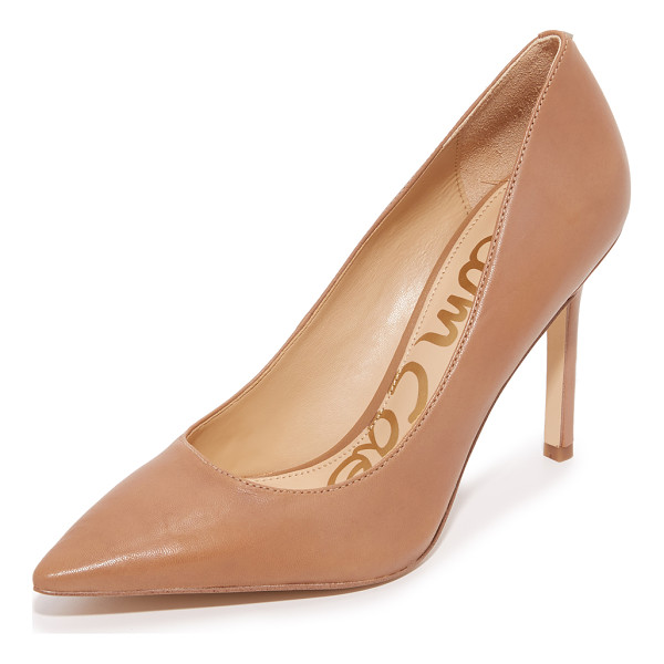 SAM EDELMAN hazel pumps - Sam Edelman pumps in a classic pointed-toe profile. Leather