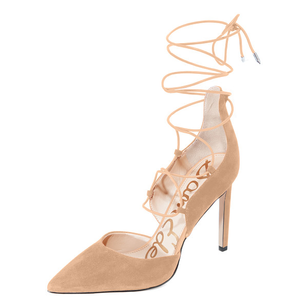 SAM EDELMAN helaine lace up pumps - Suede Sam Edelman pumps styled with a sculpted top line and...