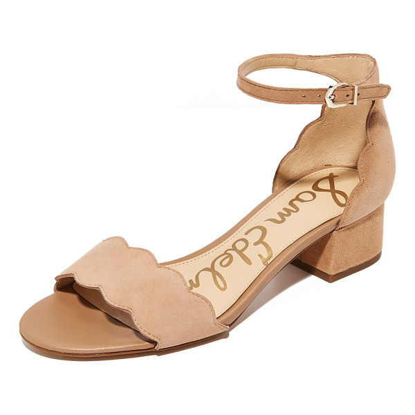 SAM EDELMAN inara city sandals - Scalloped edges adds a feminine touch to these suede Sam