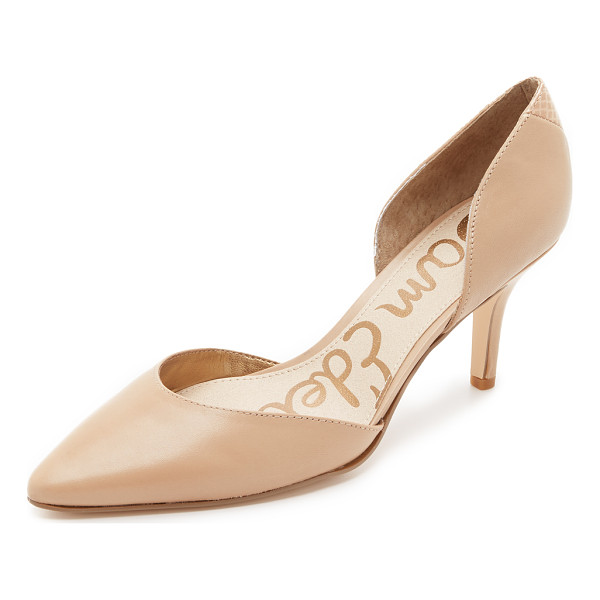 SAM EDELMAN Opal dorsay pumps - Clean lined Sam Edelman d'orsay pumps in smooth leather. A...