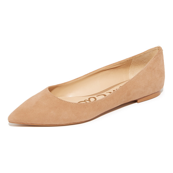 SAM EDELMAN rae suede flats - Suede Sam Edelman flats styled with a pointed toe. A...