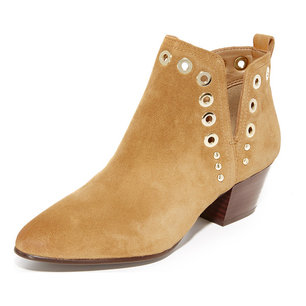 SAM EDELMAN rubin booties - Polished grommets and studs trim the split shaft on these...
