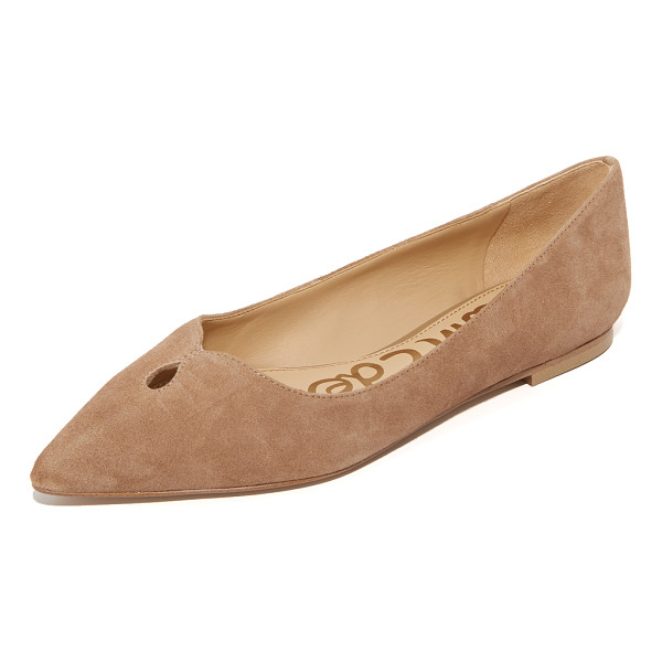 SAM EDELMAN ruby flats - Suede Sam Edelman flats styled with a teardrop cutout at...