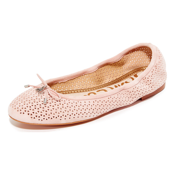 SAM EDELMAN felicia flats - Suede Sam Edelman flats styled with a perforated vamp....