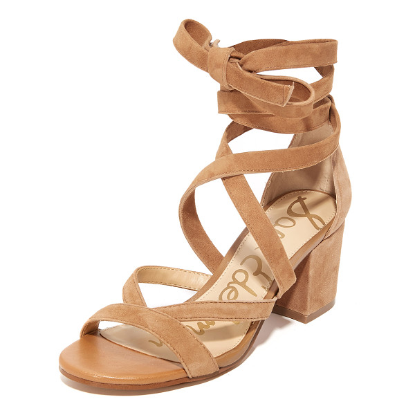 SAM EDELMAN sheri suede city sandals - Slim crisscross straps lace-up these soft suede Sam Edelman
