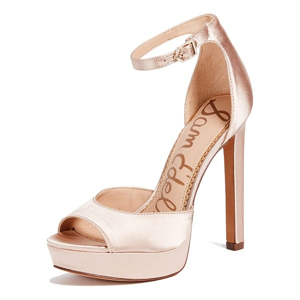 SAM EDELMAN wallace sandals - Fabric: Satin Covered platform Lightly padded insole...