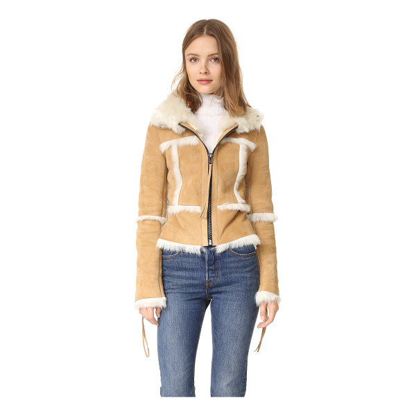 SAM. stevie shearling jacket - A cozy SAM. jacket made from shaggy shearling. Zips fasten...