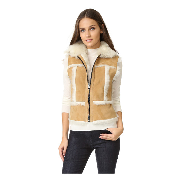 SAM. stevie shearling vest - A cozy SAM. vest made from shaggy shearling. Zip closure....