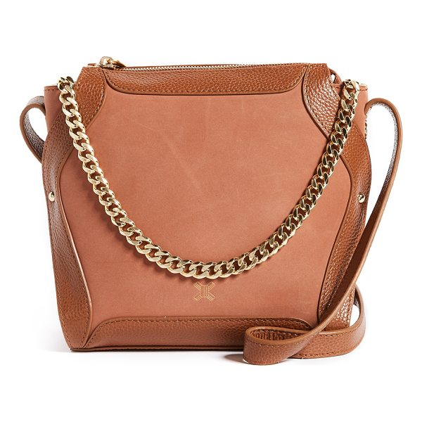 SANCIA lilou chain cross body bag - Leather: Cowhide Zip at top Zip interior pockets Patch...