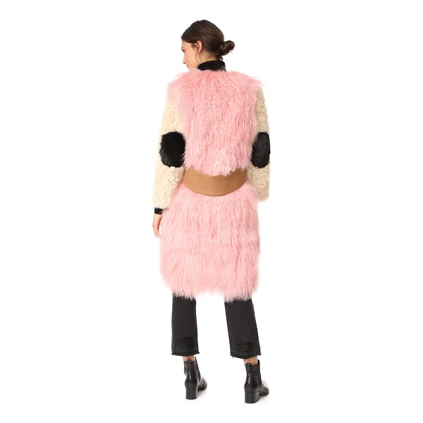 SANDY LIANG mingo coat - A structured Sandy Liang overcoat with a high-pile...