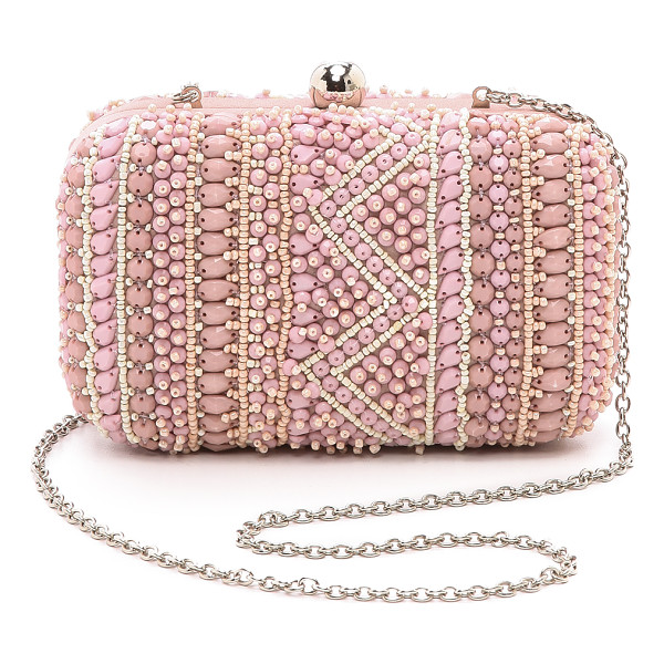 SANTI beaded minaudiere - Tonal beadwork brings intricate texture to this petite