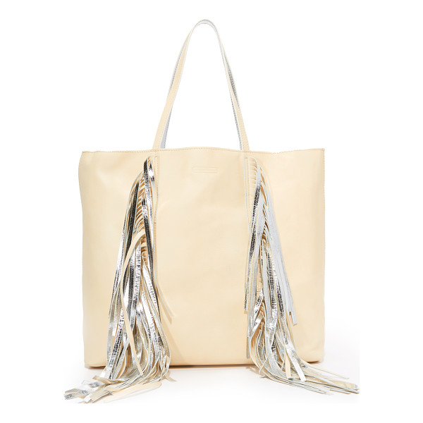 SARA BATTAGLIA everyday shopper tote - Swingy fringe punctuates the front of this slouchy Sara