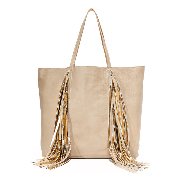 SARA BATTAGLIA Sara Battaglia Everyday Shopper Tote - Swingy fringe punctuates the front of this slouchy Sara...