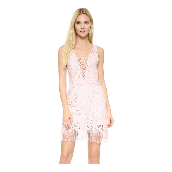 SAYLOR elana fringe crisscross dress - This delicate lace Saylor dress is finished with playful...