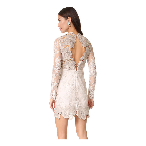 SAYLOR leondra lace dress - A woven lining cut with a sweetheart neckline brings...
