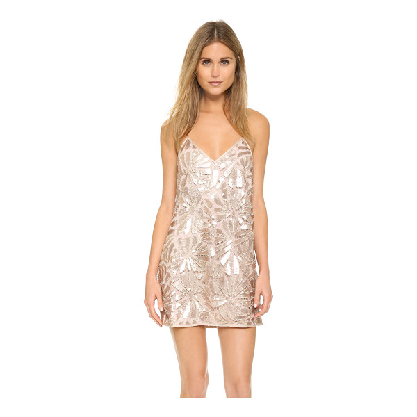 SAYLOR Talia tunic - A sequined crochet shell lends glamour to this racer back...