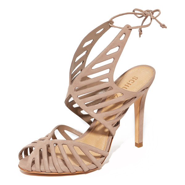 SCHUTZ anamelia sandals - Smooth nubuck Schutz sandals in a scalloped silhouette with