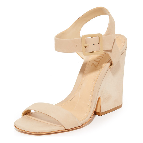 SCHUTZ baronina sandals - Refined nubuck Schutz sandals styled with a sculpted,