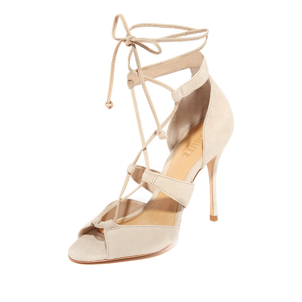 SCHUTZ clove sandals - Luxe suede Schutz sandals styled with slim lace up ties....