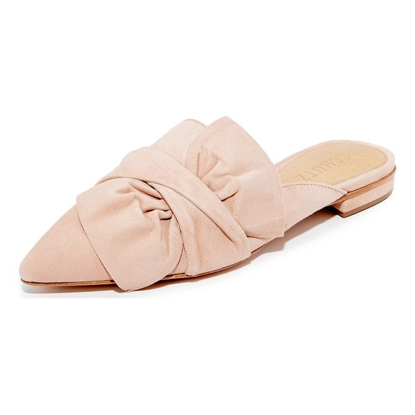 SCHUTZ dana mules - A large bow and twisted strap add easy, feminine charm to...