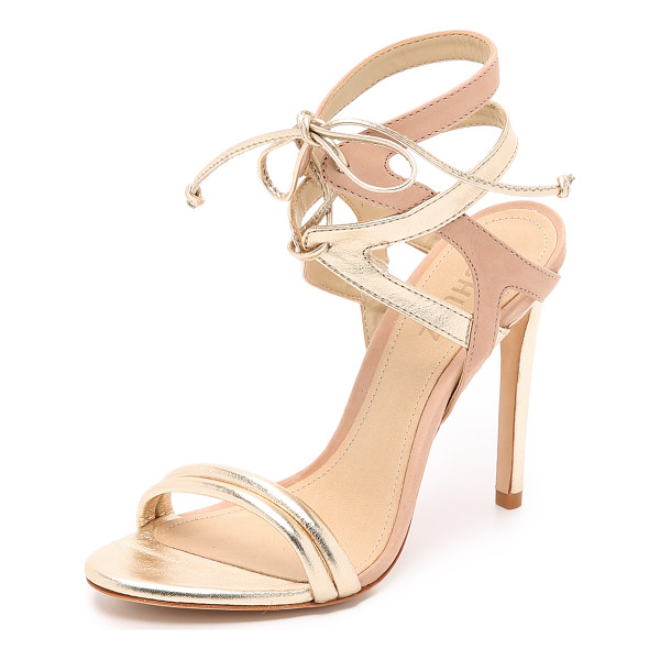 SCHUTZ Delmano sandals - Metallic and matte leather composes the two tone straps on...