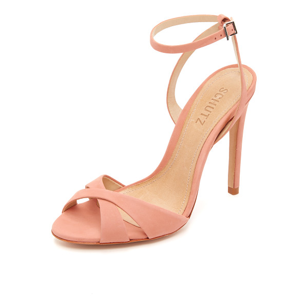 SCHUTZ Dollie sandals - Smooth nubuck composes the crisscross vamp on these refined...