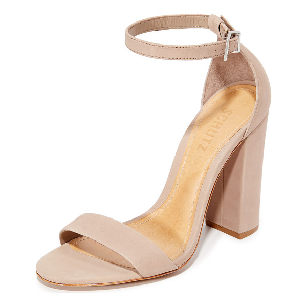 SCHUTZ enida sandals - Soft nubuck Schutz sandals with a slim, buckled strap.