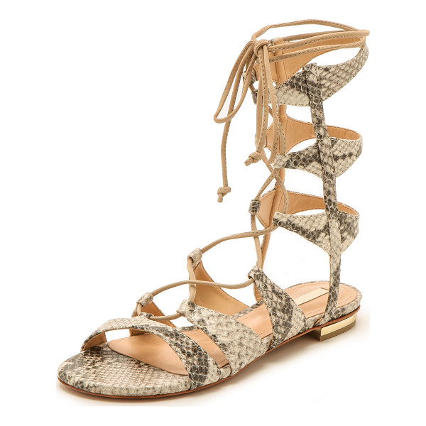SCHUTZ Erlina lace up sandals - Lace up Schutz gladiator sandals composed of snake print...